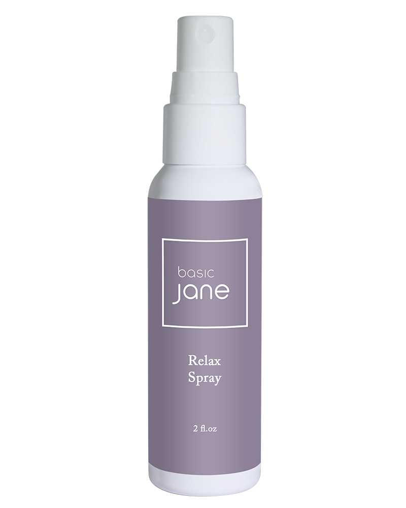 Relax Natural Topical Pain Relief Spray with Cannabis and Menthol | Basic Jane
