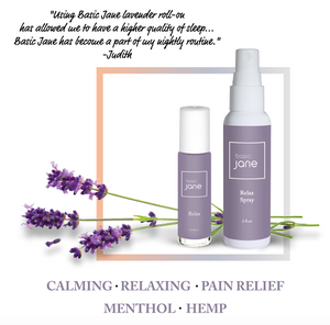 Relax Natural Topical Pain Relief Spray with CBD from Hemp and Menthol | Basic Jane