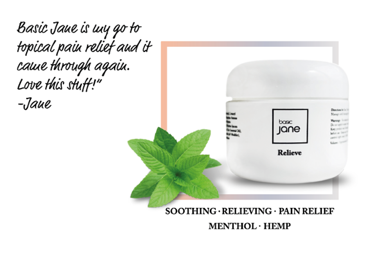 Topical Pain Relief with CBD from Hemp I Basic Jane