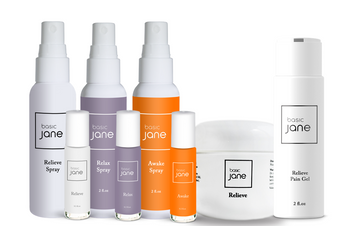 Basic Jane for topical pain relief with cannabis (hemp) and menthol