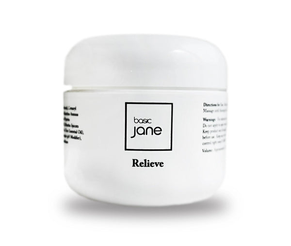 Relieve Pain Cream with CBD from Hemp and Menthol I Basic Jane