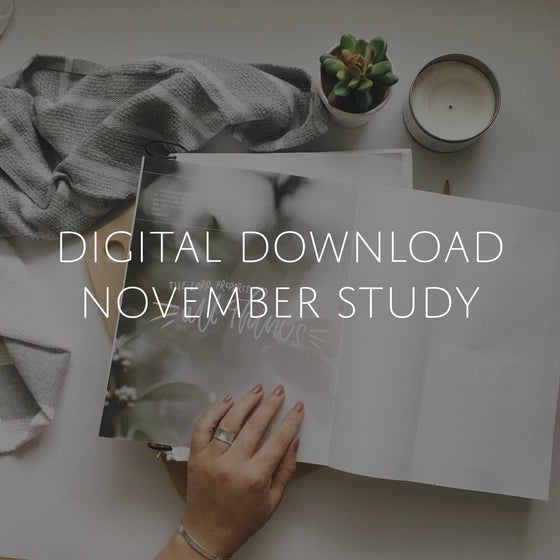 Digital Download of Finding Gratitude Study | November
