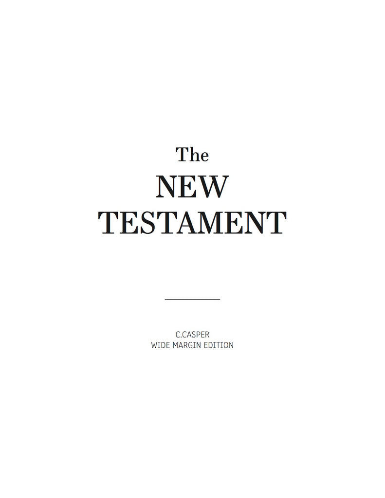 Wide Margin New Testament: PDF Download