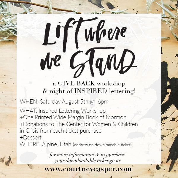 Give Back Workshop- UTAH