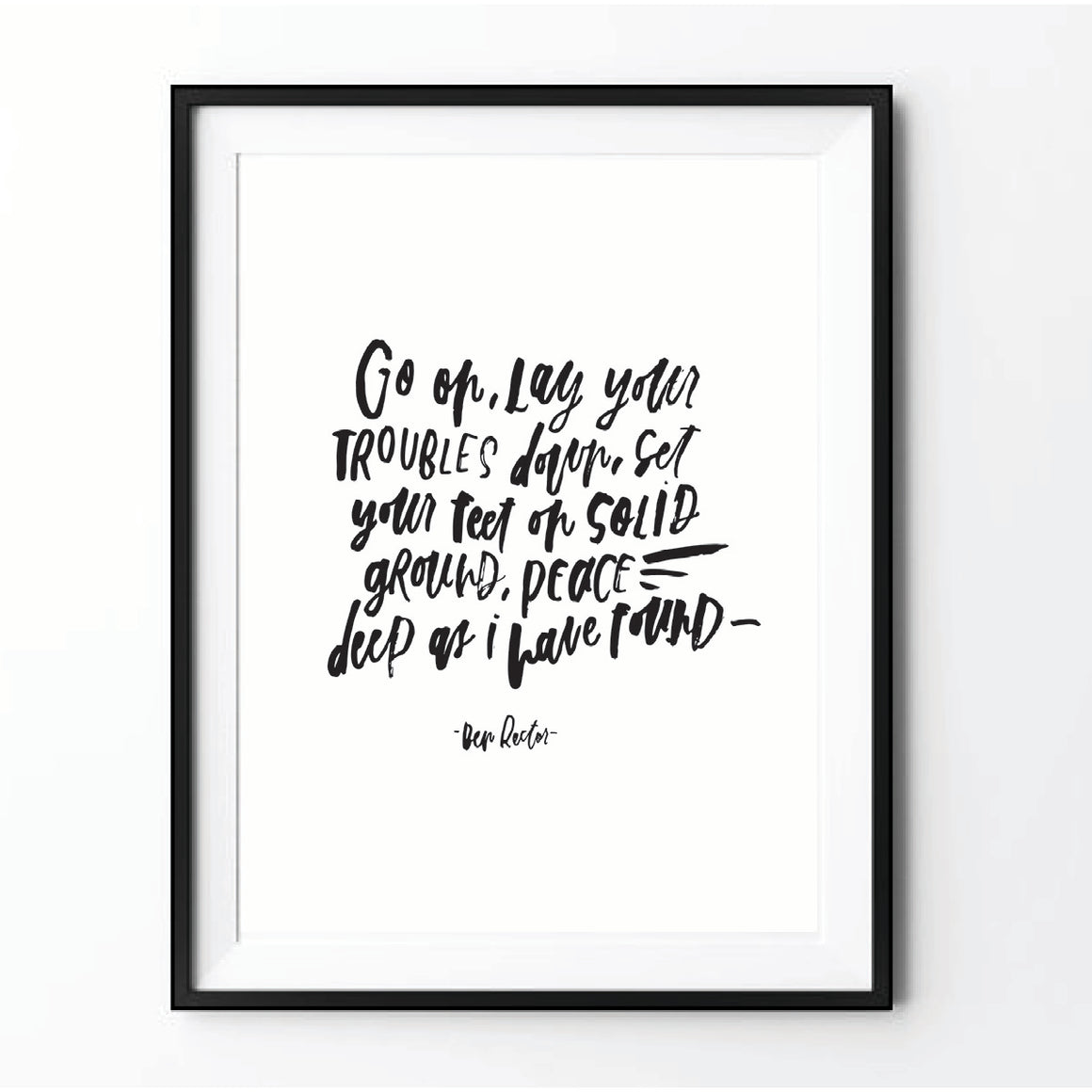 """Follow Me"" Ben Rector Print Black on White"