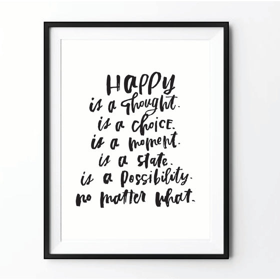 """Happy Is"" Print"