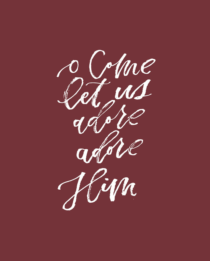 """O Come Let Us"" Printable"