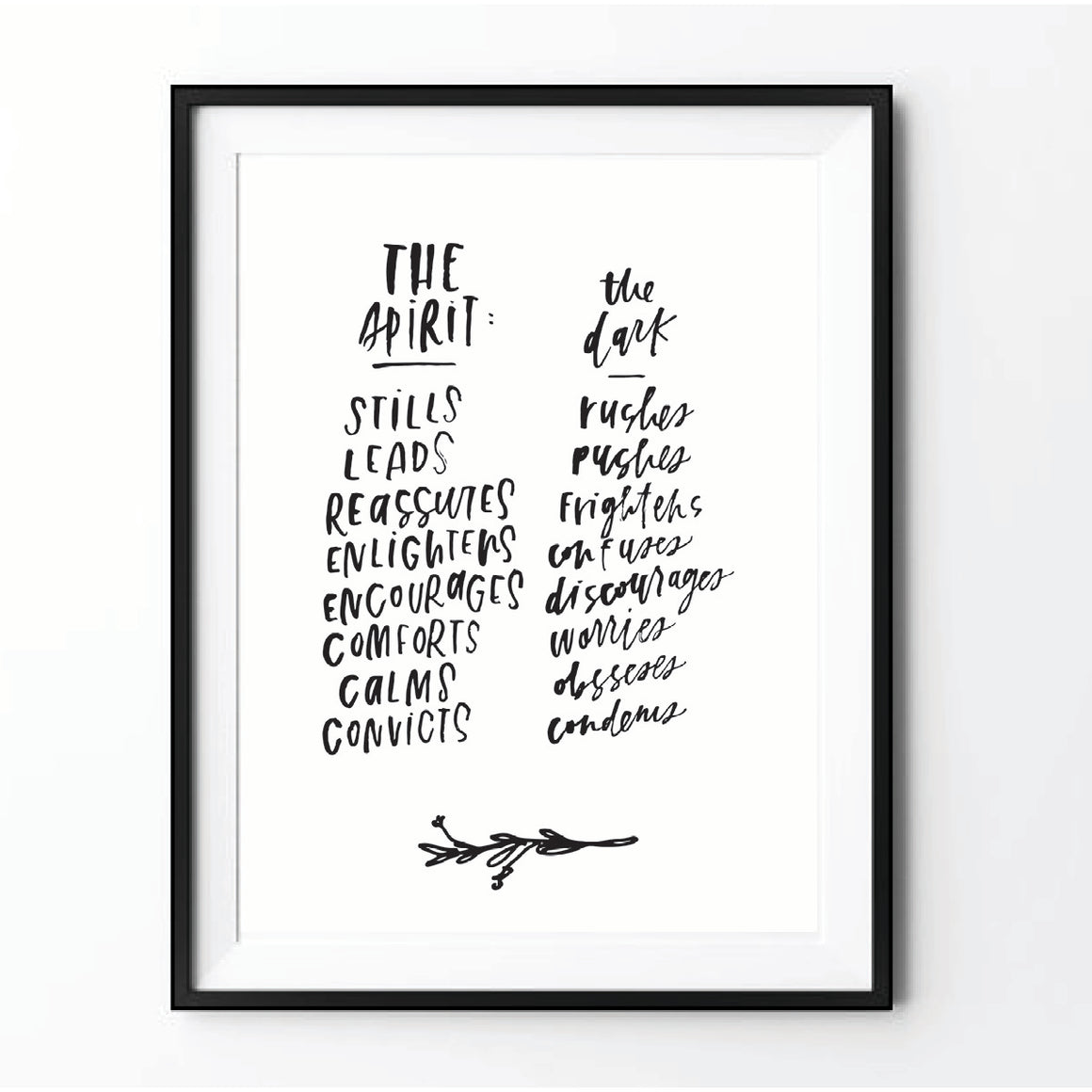 """The Spirit Is"" Printable"