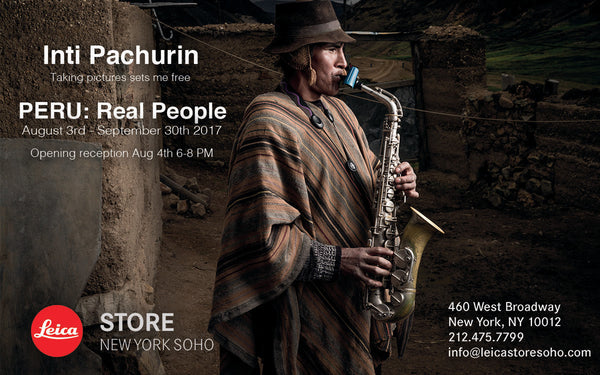 Inti Pachurin's exhibit, Peru: Real People - opening August 4th in New York