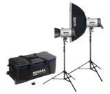 Promotion - Integra Plus Octa Kit 1000/w 2 stands - The perfect portraiture kit - Monolights - Hensel USA