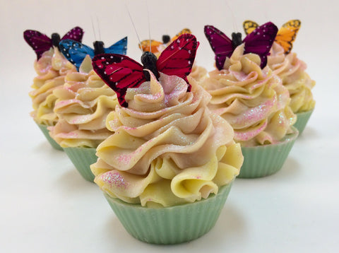 butterfly kisses soap cupcake