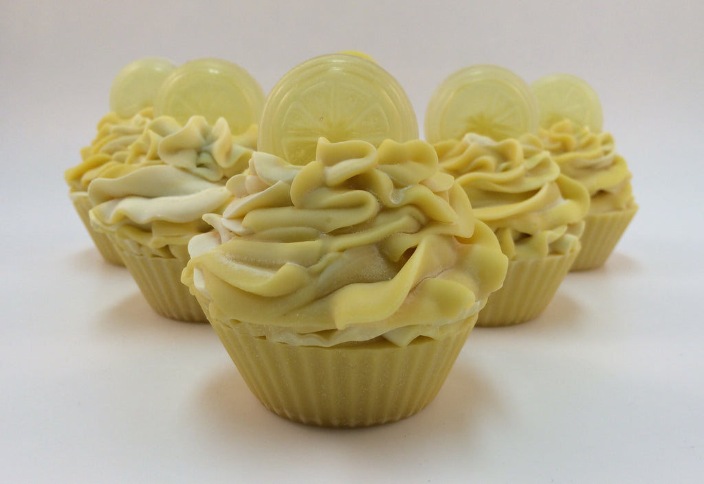 Lemon soap cupcake