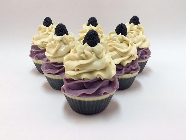 Black Raspberry Vanilla Soap Cupcake
