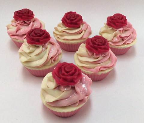 English Tea Rose Cupcake