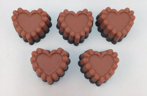 Vegan Black Amber Heart Soap