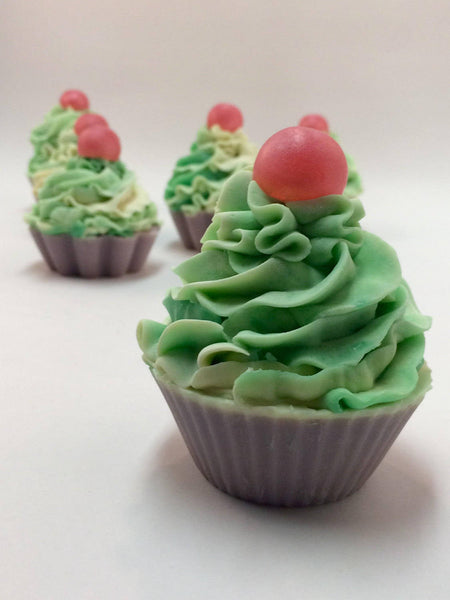 Vegan Lily of the Valley Soap Cupcake