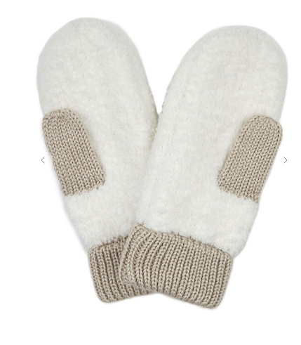 Sherpa Mittens In Ivory