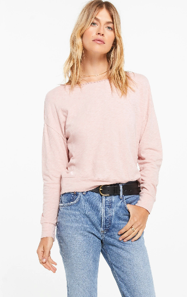 Naiser Slub Top In Pink Blossom