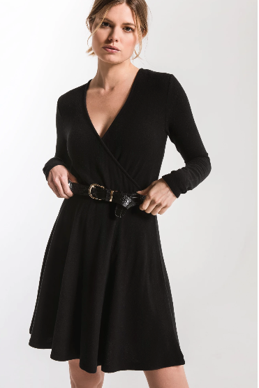 Soft Spun Surplice Dress