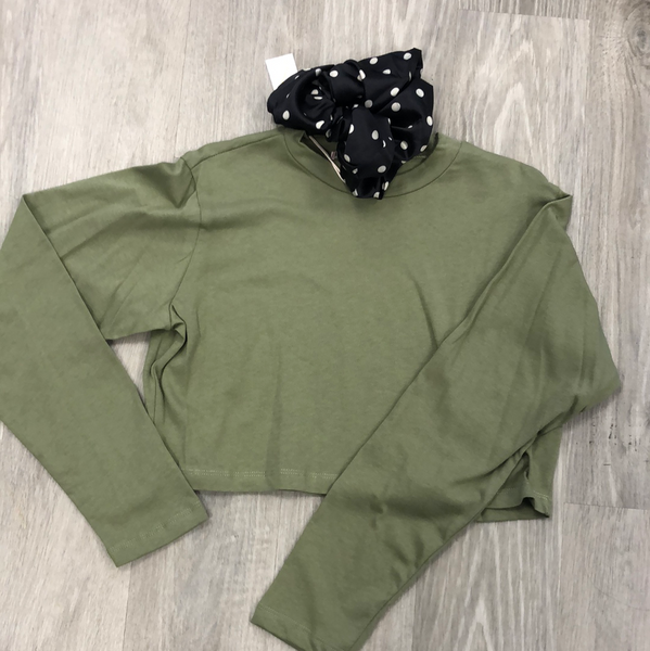 Not Your Basic Crew In Olive