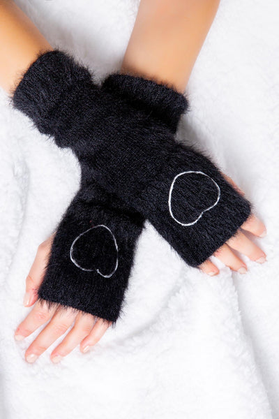 Feather Knit Arm Warmers