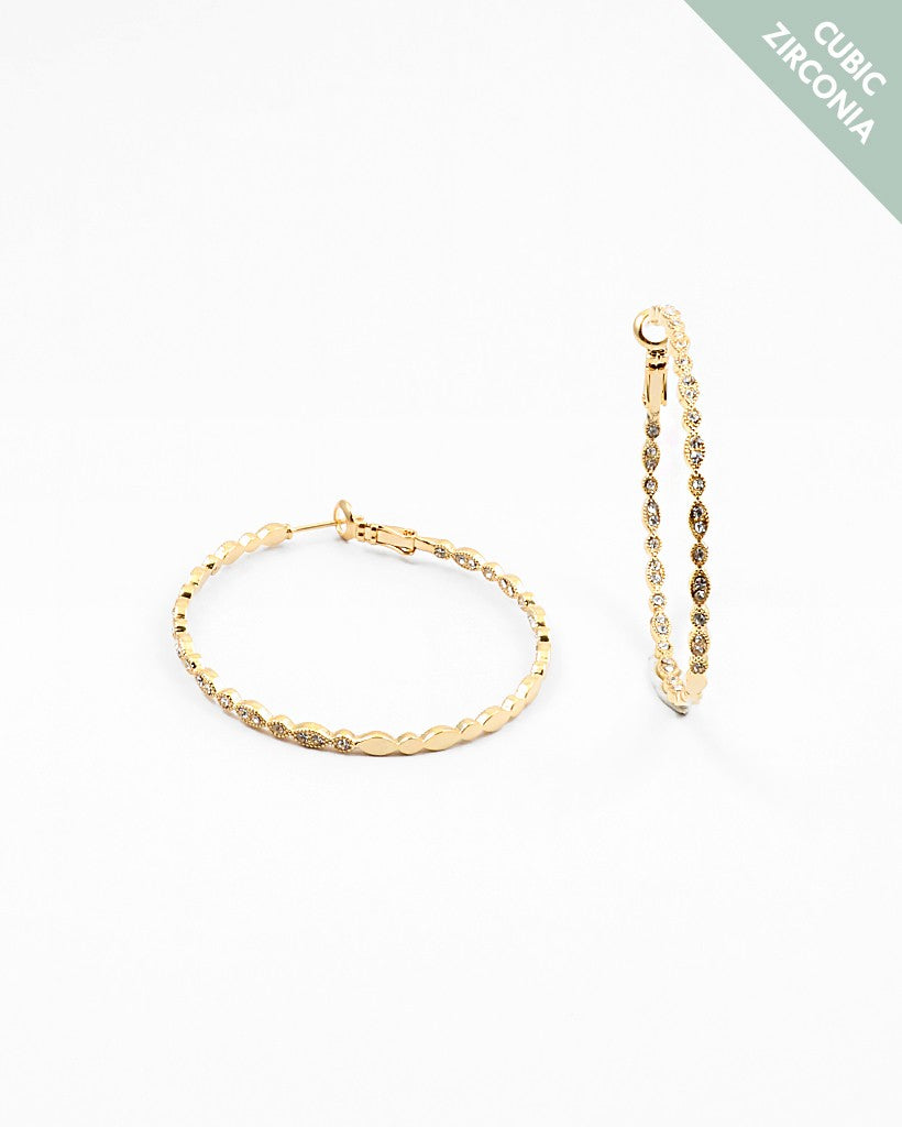 Pave Hoops Large