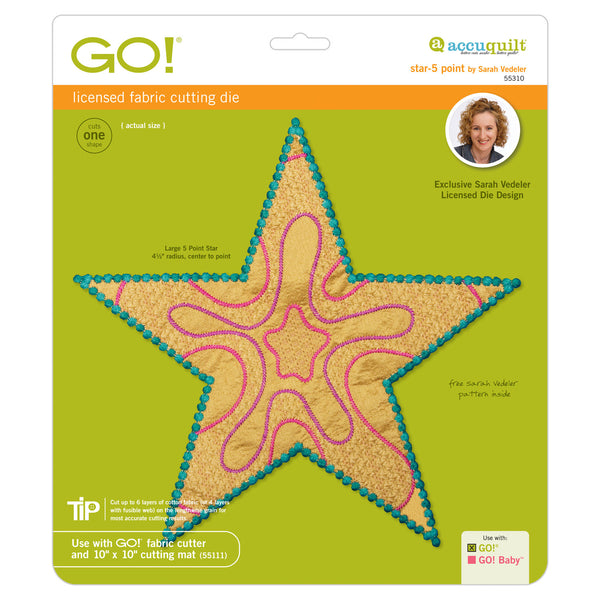 GO! Star 5-Point by Sarah Vedeler - 55310