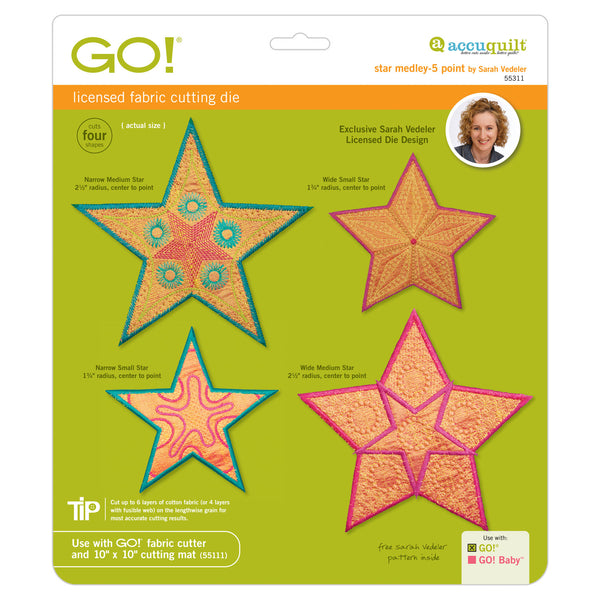GO! Star Medley-5 Point by Sarah Vedeler - 55311