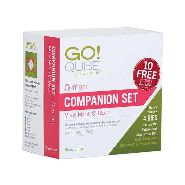 Accuquilt GO! Qube - 8in Companion Set - Corners - 55785