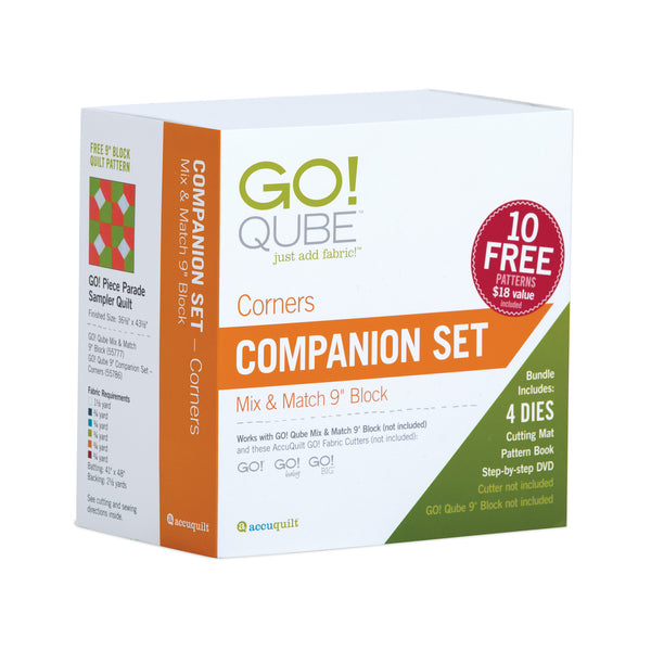 Accuquilt GO! Qube - 9in Companion Set-Corners - 55786