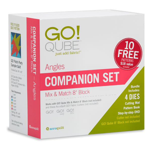 Accuquilt GO! Qube - 8in Companion Set - Angles - 55789