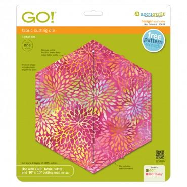 "Accuquilt Go! Hexagon 4 1/2"" Sides - Finishes at 4 1/4"" - 55438"