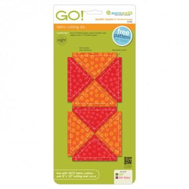 "Accuquilt Go! - Quarter Square Triangle - 3"" Finished Square - 55396"