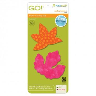 Accuquilt Go! Rustling Leaves #1 - Sweetgum and Poplar (Large) - 55389