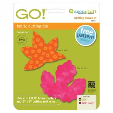 Accuquilt Go! Rustling Leaves #3 - Sweetgum and Poplar (Small) - 55391