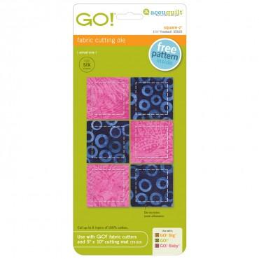 "Accuquilt Go! Square 2"" - Finishes at 1 1/2"" - 55022"