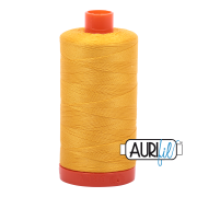 Aurifil - 50wt Cotton Mako Thread  - Yellow #2135