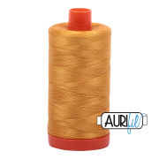 Aurifil - 50wt Cotton Mako Thread  - Orange Mustard #2140