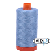 Aurifil - 50wt Cotton Mako Thread  - Light Delft Blue  #2720