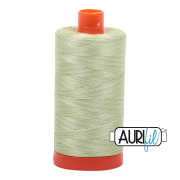Aurifil - 50wt Cotton Mako Variegated Thread  - Light Spring Green #3320