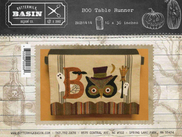 Boo Table Runner Laser cut Applique Kit