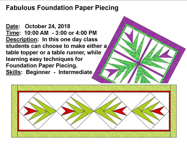 Fabulous Foundation Paper Piecing