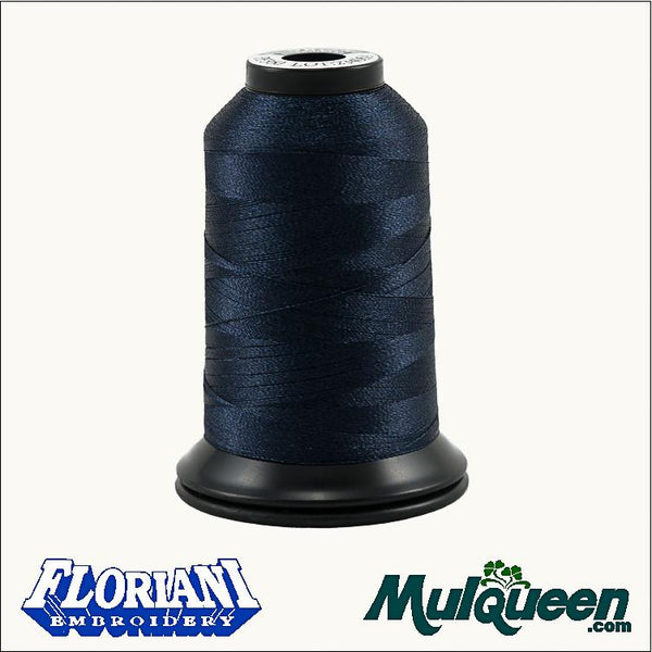 Floriani Polyester Embroidery Thread - #PF0360 - Dark Navy, 1000m/1100yds