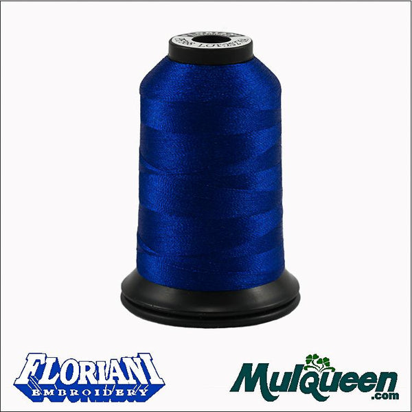 Floriani Polyester Embroidery Thread - #PF0368 - Royal Blue, 1000m/1100yds