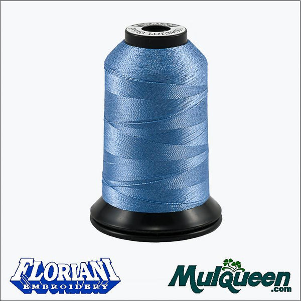 Floriani Polyester Embroidery Thread - #PF3763 - Baby Blue, 1000m/1100yds