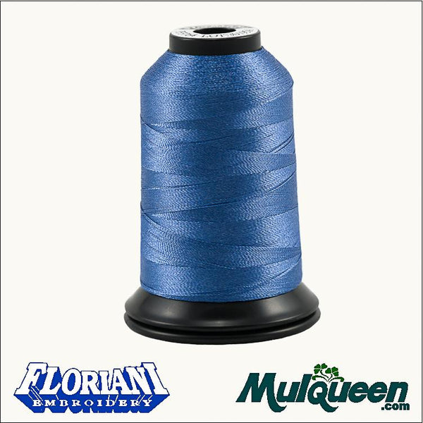 Floriani Polyester Embroidery Thread - #PF3764 - Perisian Blue, 1000m/1100yds