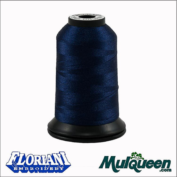 Floriani Polyester Embroidery Thread - #PF3878 - Sapphire, 1000m/1100yds