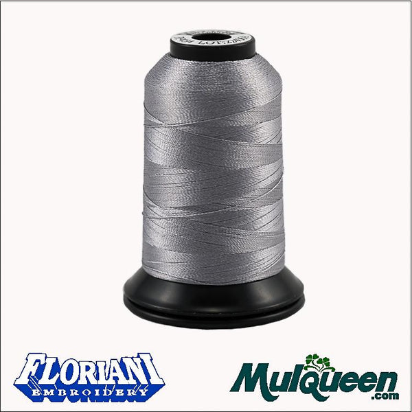Floriani - Polyester Embroidery Thread - #PF0434 - Pewter, 1000m/1100yds