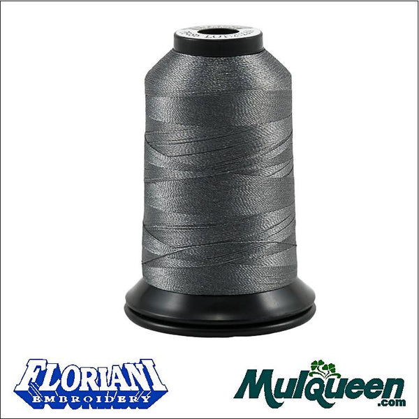 Floriani - Polyester Embroidery Thread - #PF0486 - Slate Gray, 1000m/1100yds