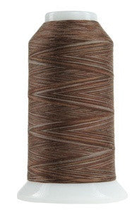 OMNI VARIEGATED - TEX 30 POLY - 2,000 YD CONE - CHOCOLATE PUDDING #9081